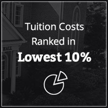 Tuition costs ranked lowest 10%