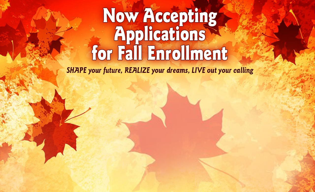 Apply Now for Classes Starting This Fall