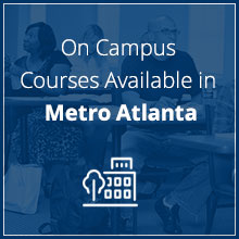 On campus courses available in Metro Atlanta